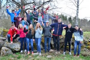 Unga ledare på aktivitet ordnad av klubben